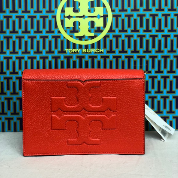 06bf4ca2eaf3 Tory Burch Bombe T combo crossbody bag poppy Red